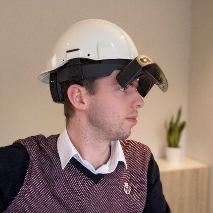 HoloLens with Hard hat